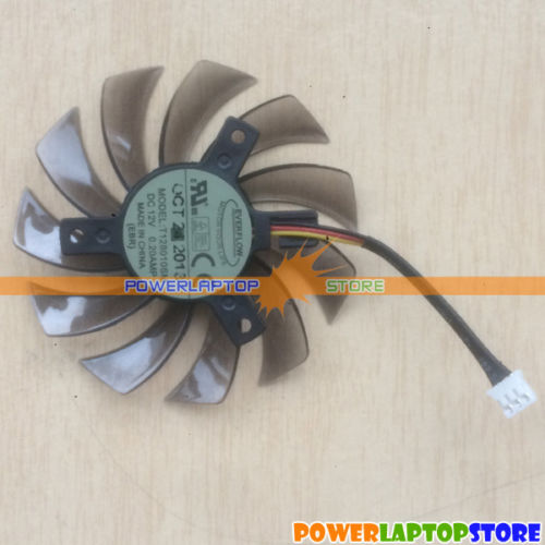 New 3-Pin GPU Fan T128010SM F GIGABYTE GTX580 GTX470 GTX560ti